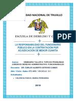 Proyecto de Tesis de Derecho Administrativo