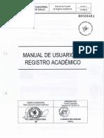 5.1. MANUAL DE USUARIO DE REGISTRO ACADEMICO