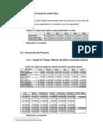 Proyección anual de costos Fijos