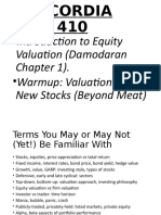 Damodaran Chapter 1 Introduction to Valuation Winter 2020