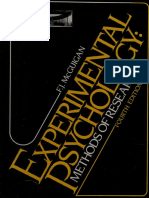Experimental psychology  methods of research MCGUIGAN