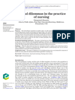 Ethical dilemmas in the practice of nursing