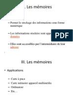 Présentation3 les mémoires