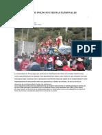 Chalhuanca Dio Inicio Sus Fiestas Patronales