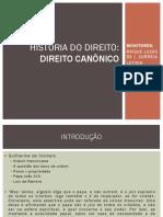 HISTÓRIA DO DIREITO - D. CANÔNICO