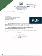 Jack Evans Resignation Letter