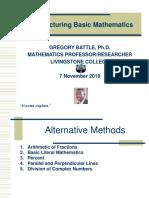 Restructuring Basic Mathematics-BATTLE