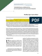 Ayora-Díaz. Modernidad Alternativa.Medicinas locales en los Altos de Chiapas