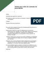 Derecho-de-peticion-retiro-de-centrales-riesgo-prescripcion