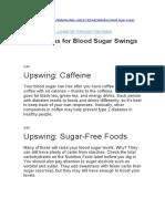 20 Reasons for Blood Sugar Swings