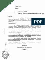 Perotti decretó el congelamiento de salarios de funcionarios públicos por 180 días