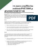 E01G Assignment 8