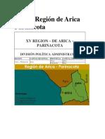 mapa de chile y sus regiones