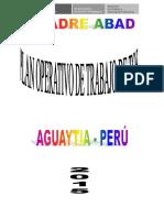 PLAN TUTORIAL ANUAL DE LA UGEL DE PADRE ABAD