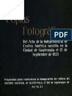 ACTA DE INDEPENDENCIA DE C.A.