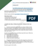 45+ Contoh Soal Latihan UN Bahasa Indonesia SD + Kunci Jawaban (Paket 3)
