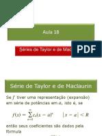 18_Séries de Taylor e de Maclaurin.pps