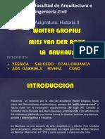WALTER GROPIUS MIES,LA BAUHAUS