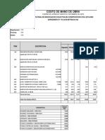 COSTO DE MANO DE OBRA - 2019-2020