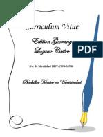 Curriculum Vitae EDILSON GEOVANY LOZANO CASTRO