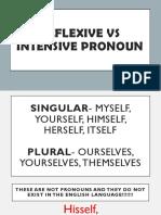 Intensive Vs Reflexive Pronoun