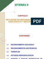 Capitulo I ESTUDIOS DE RECONOCIMIENTO GEOLOGICO GEOTECNICO