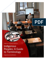 Indigenous Peoples - Guide to Terminology