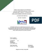 Informe Practicas Profecionales Grupo Escolar Macaira, Parraquia Macaira, ALtagracia de Orituco