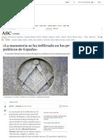 «La masonería se ha infiltrado en los principales partidos políticos de España»