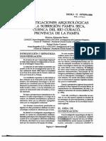 BERON - CURTONI - Investigaciones arqueologicas en la subregion pampa seca, cuenca del rio curaco, provincia de la pampa