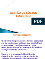 GESTÃO DE CUSTOS LOGÍSTICO