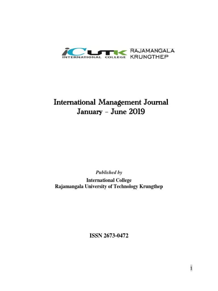 International Management Journal Jan Jun.20   PDF   Internet ...