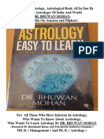 Best Book Of Astrology By greatest Astrologer DR. BHUWAN MOHAN.