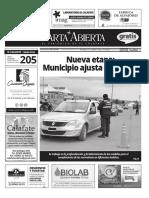 Carta Abierta, El Periódico de El Calafate, Edición enero 2020