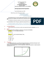 exponential equations lp