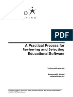 A Practical Process for Reviewing and Selecting Educational Software