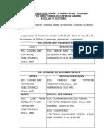 INFORME VIVARAMA DE DIRECTORES A DOCENTES POR LA SUPERVISION ESCOLAR