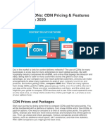 CDN Pricing & Features Comparison 2020