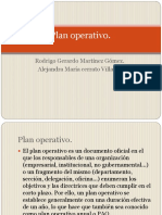 Plan operativo.