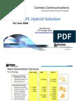 Corinex Hybrid Fiber-BPL Solution