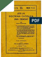 E.V.C. - 015 - Doctrina Católica Ciencia
