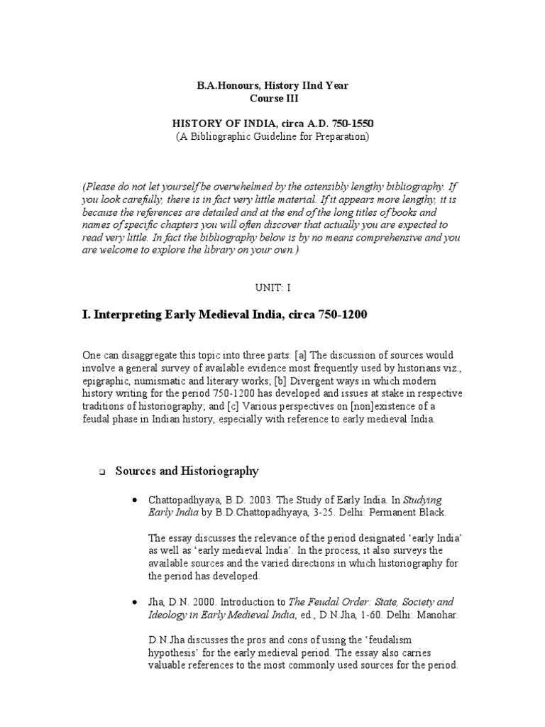 Feudalism Essay - Words