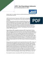 ANALISIS, APEC Dan Kepentingan Indonesia
