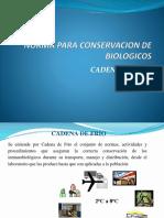 NORMA PARA CONSERVACION DE BIOLOGICOS-CADENA DE FRIO mio.pptx