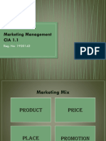 Marketing mix of a consumer and industrial product