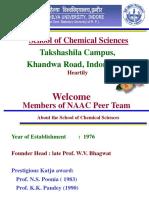 NAAC PEER Team PPT Chemistry