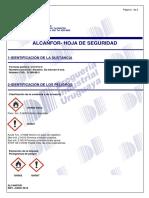 ALCANFOR - MSDS