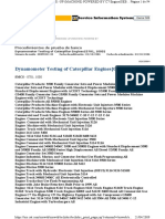 Dynamometer Testing of Caterpillar Engines{0781, 1000}