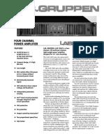 Lan.Gruppen 12000 Power Amplifier Specification