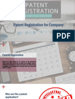 Patent Registration for Company